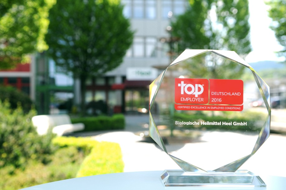 "Biologische Heilmittel Heel GmbH has been awarded ""Top Employer"" for the seventh time in succession."